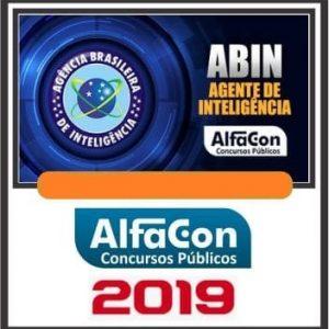 ABIN (AGENTE DE INTELIGÊNCIA) ALFACON 2019.1