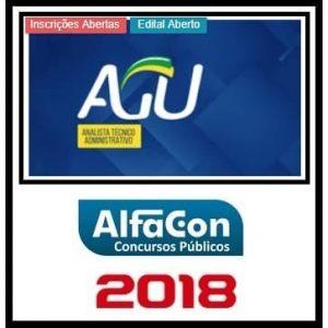 AGU (ANALISTA TÉCNICO ADMINISTRATIVO) ALFACON 2018.2