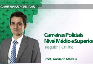 CURSO PARA CONCURSO CARREIRAS POLICIAIS NÍVEL MÉDIO E SUPERIOR REGULAR DAMÁSIO 2016.2