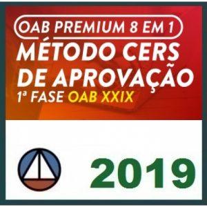 CURSO EXTENSIVO OAB PREMIUM 8 EM 1 – MÉTODO CERS DE APROVAÇÃO PARA O XXIX EXAME DE ORDEM 2019.1