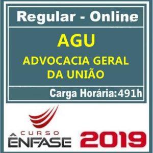 AGU (ADVOCACIA PUBLICA UNIÃO) Ênfase 2019.1