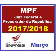 CURSO MAGISTRATURA FEDERAL E MPF – ENFASE 2017/2018