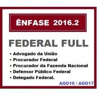 Curso para Concurso Federal Full AGU DPU DPF ENFASE 2016/2017