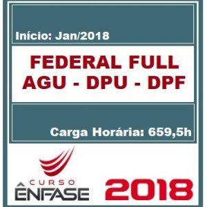 FEDERAL FULL (AGU – DPU – DPF) ENFASE 2018