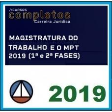 Magistratura Trabalhista e Ministério Público do Trabalho MPT CERS COMPLETOS 2019.1
